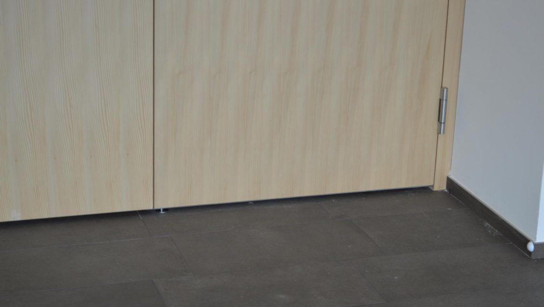 Zweiflügelige Tür mit Absenkdichtung; Barrierefreie_Tür